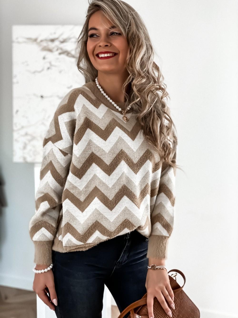 Sweter Debi nude - tifannibutik.pl