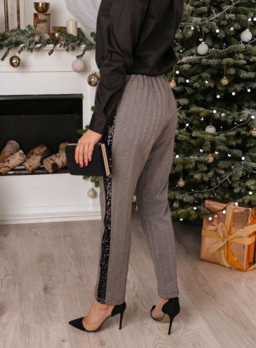 Spodnie z cekinowym lampasem 1