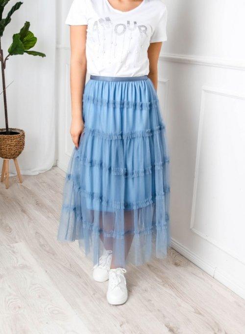 Niebieska spódnica tiulowa - Sammi