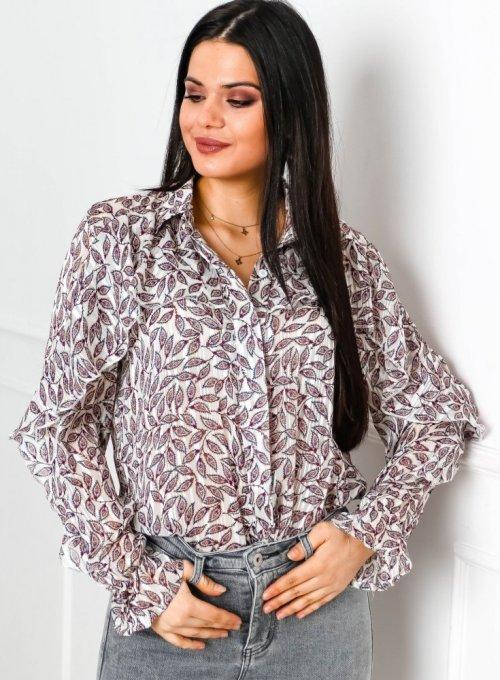 Printowana koszulaz falbankami - Kate