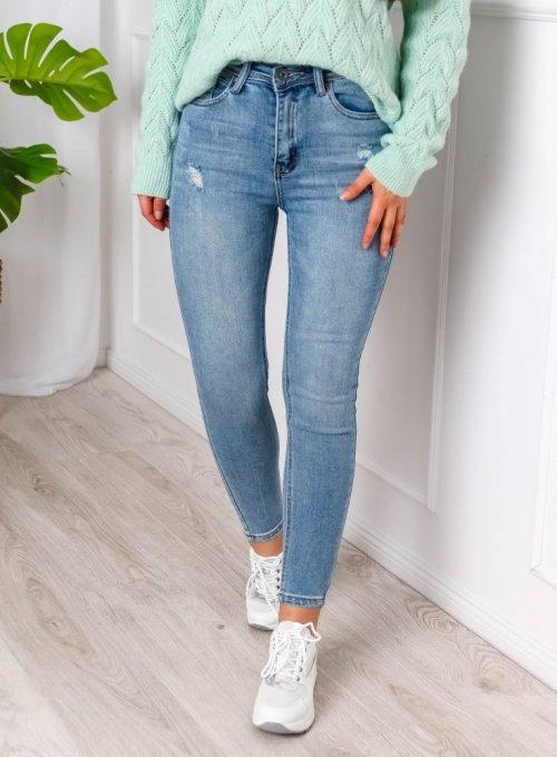 Spodnie jeans niebieskie skinny