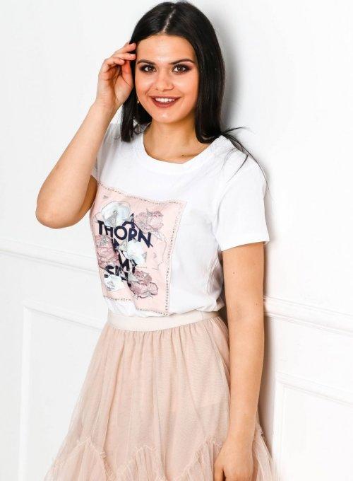T-shirt Thorn Biały