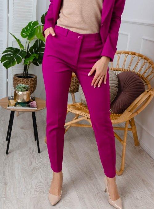 Spodnie cygaretki Edith w kolorze cyklamen