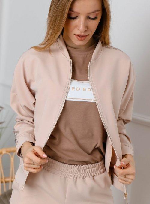 Bluza Dresowa Beżowa
