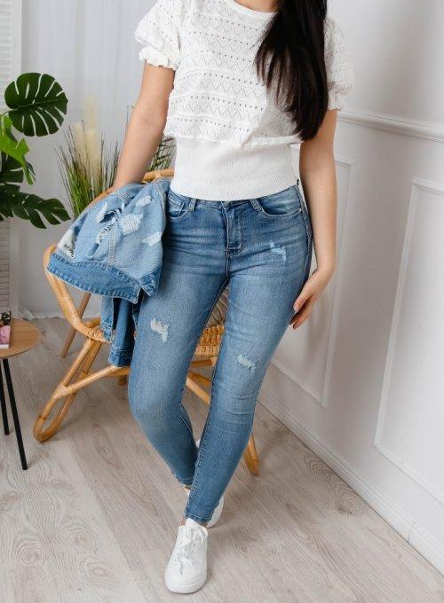 Spodnie jeans Lanco