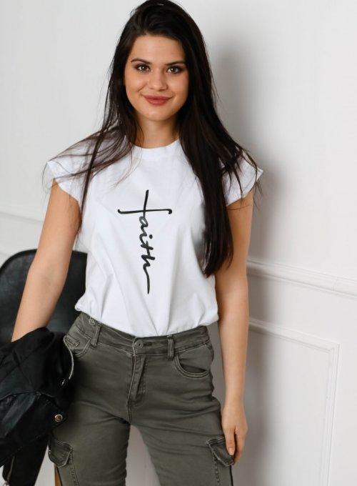T-shirt Faith Biały