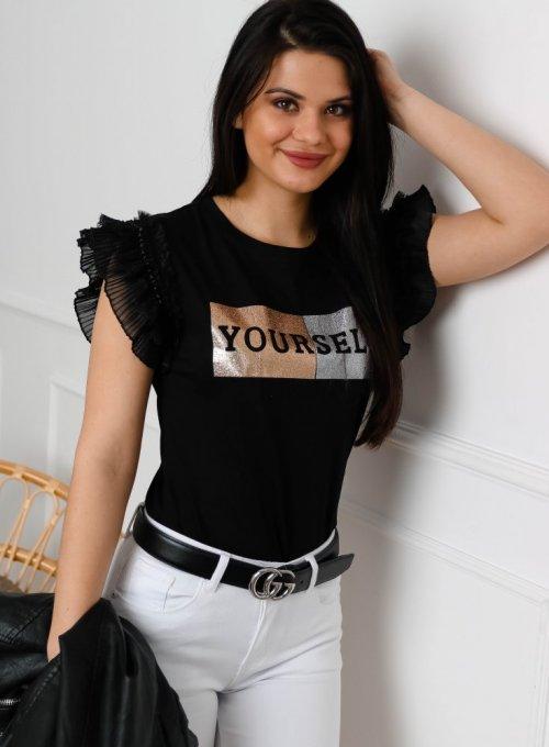T-shirt Your self Czarny
