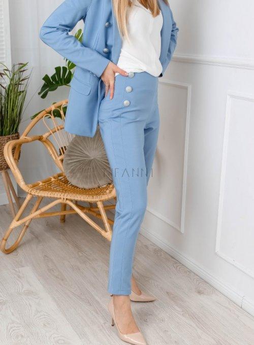 Błękitne spodnie cygaretki - LEMI