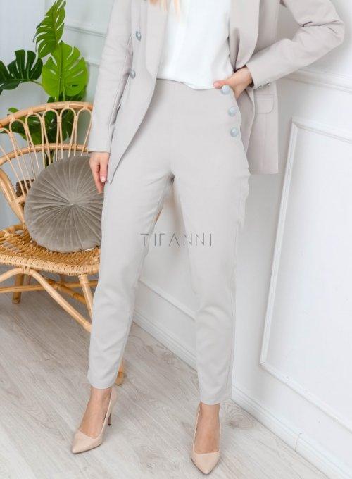 Beżowe spodnie cygaretki - LEMI