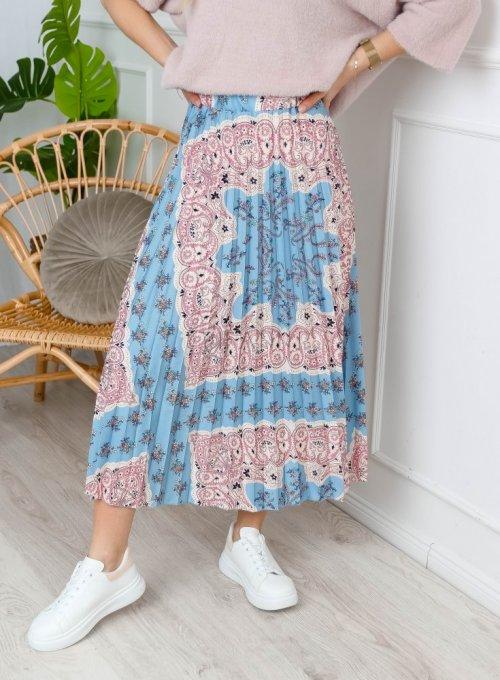 Spódnica plisowana wzorzysta - NOXI