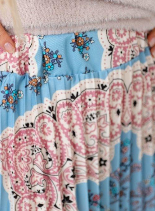 Spódnica plisowana wzorzysta - NOXI 3