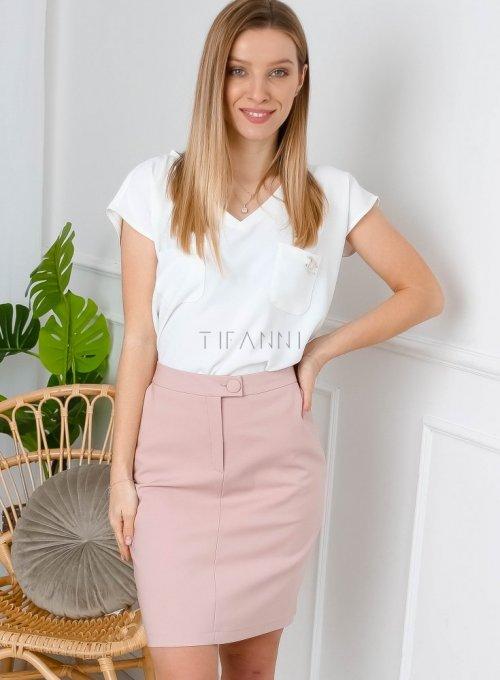 Spódnica w kolorze pudrowego różu - EDITH