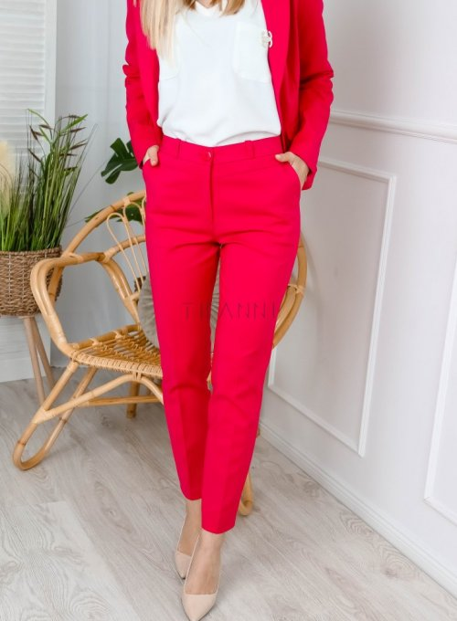Spodnie cygaretki w kolorze fuksji - EDITH