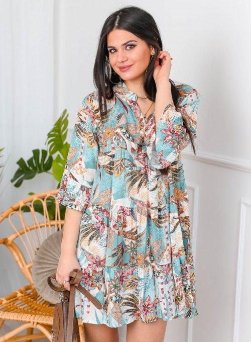 Sukienka wiskozowa wzorzysta - PAULA