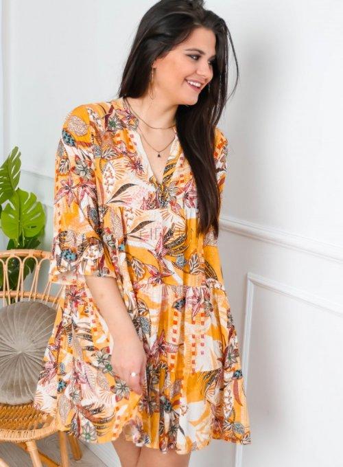 Sukienka wiskozowa wzorzysta - PAULA II