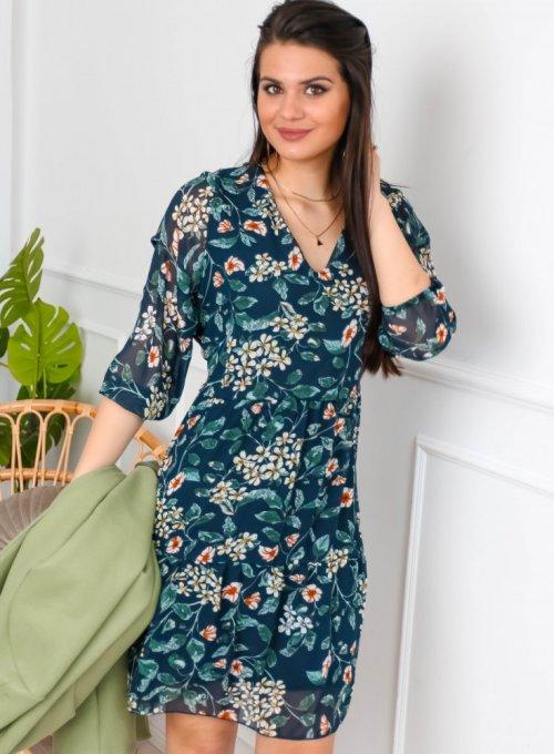 Sukienka szyfonowa w kwiaty - WERDI