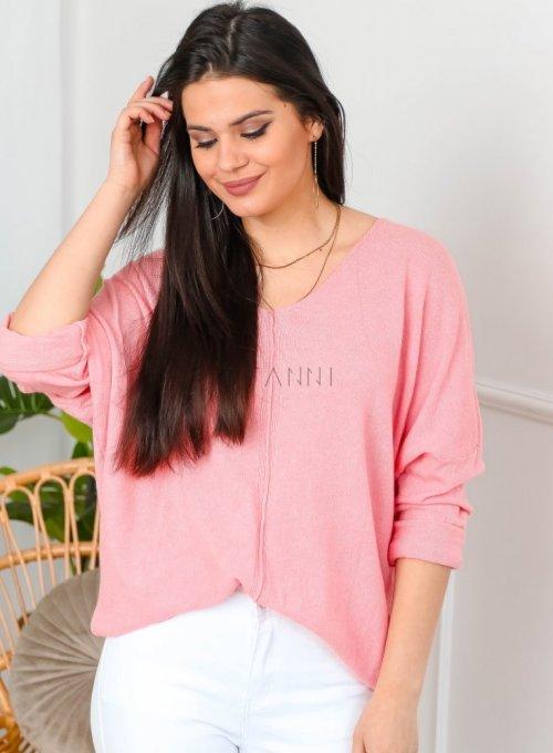 Sweter w kolorze landrynkowym - NINA