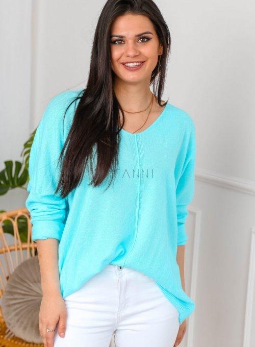 Sweter w kolorze cyan - NINA