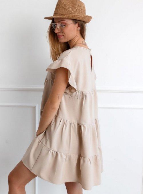 Sukienka Oli Beżowa 4