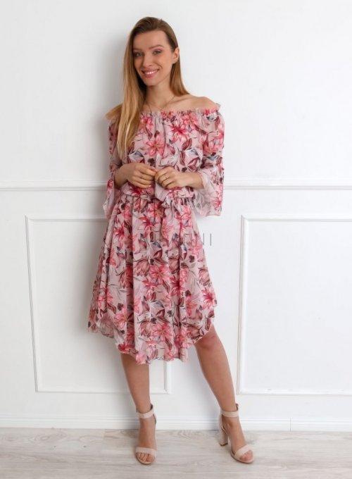 Sukienka Milano Pudrowa 2