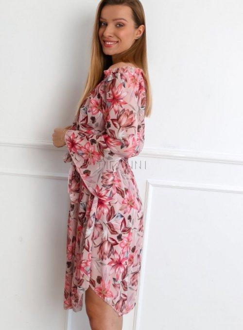 Sukienka Milano Pudrowa 1