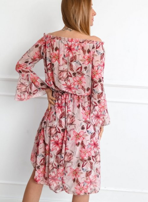 Sukienka Milano Pudrowa 4