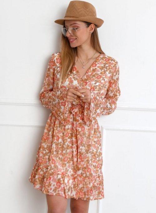 Szyfonowa sukienka w kwiaty - Lisa
