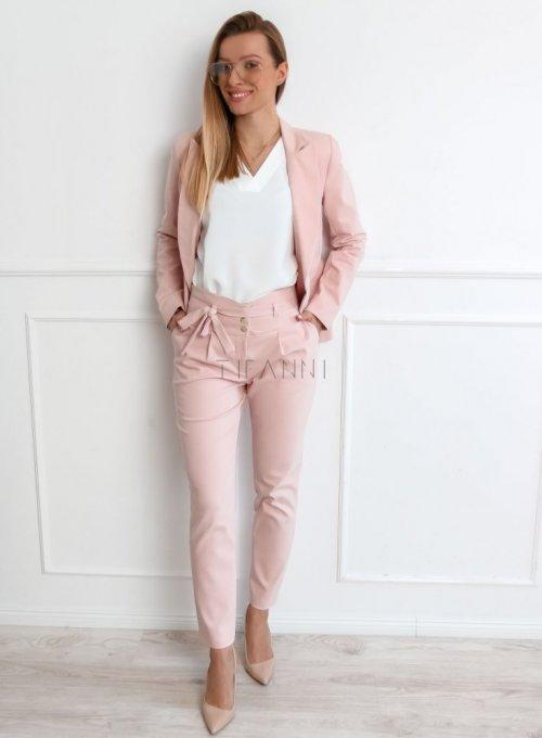 Spodnie cygaretki w kolorze pudrowego różu - JUDITH