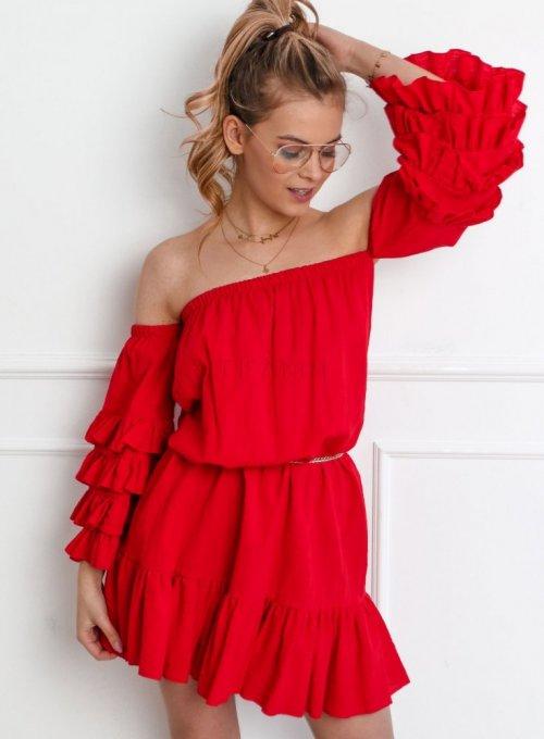 Sukienka Grace w kolorze czerwonym