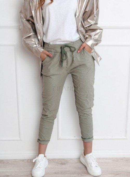 Spodnie Makado w kolorze zielonym