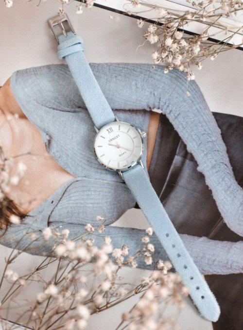 Zegarek Ernesto #01, pasek z kolorze błękitnym 2
