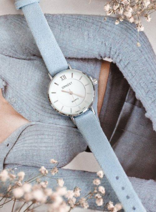 Zegarek Ernesto #01, pasek z kolorze błękitnym 3