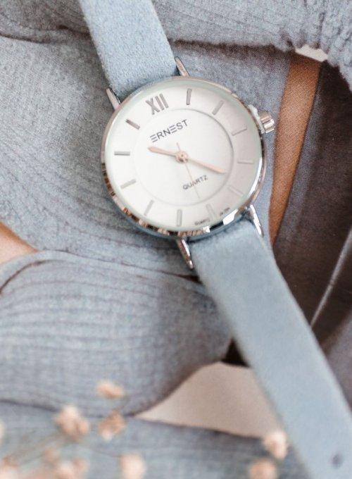 Zegarek Ernesto #01, pasek z kolorze błękitnym 1