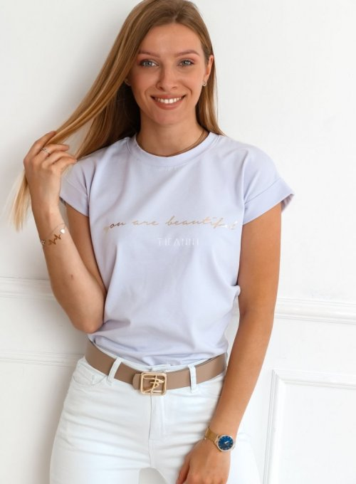 T-shirt Beautiful lila