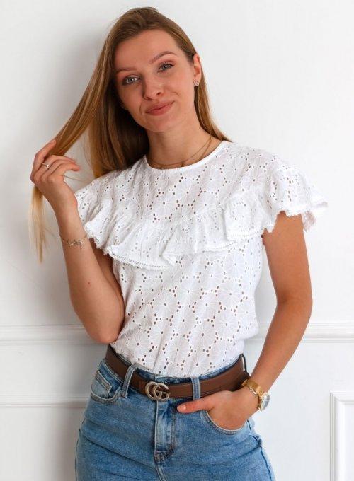 Bluzka Reni w kolorze białym