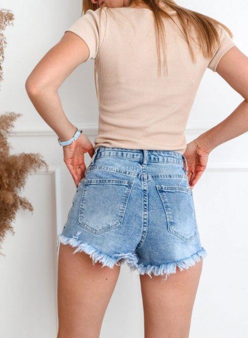 Szorty jeansowe z cekinami 7