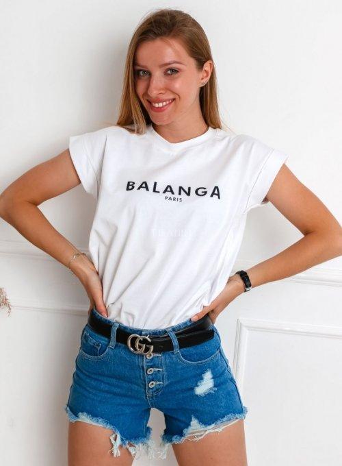 T-shirt Balanga biały