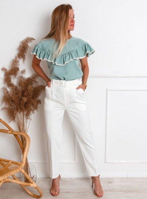 Spodnie Rimini śmietanowe 6