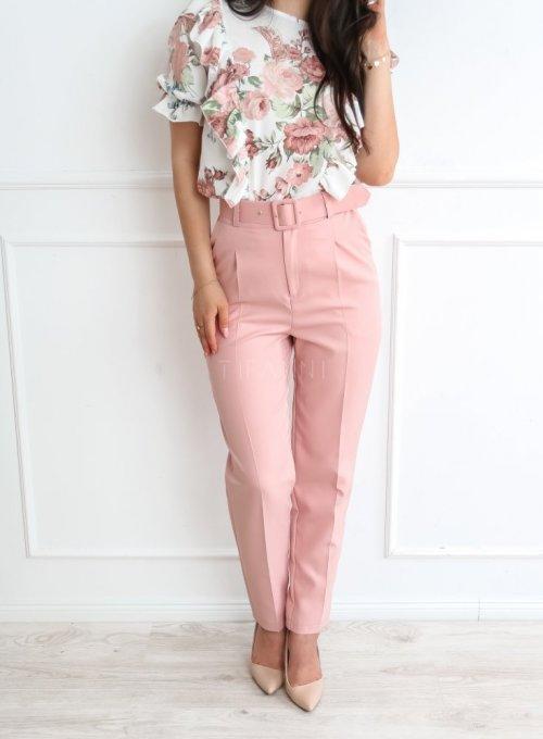 Spodnie Rimini pudrowe