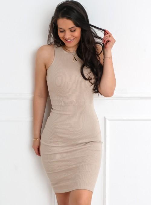Sukienka Parma w kolorze beżowym 3