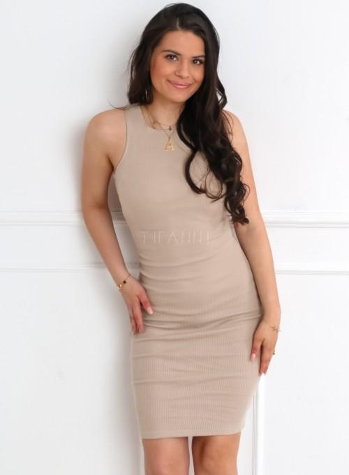 Sukienka Parma w kolorze beżowym 4