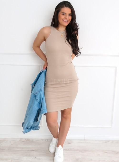 Sukienka Parma w kolorze beżowym 6
