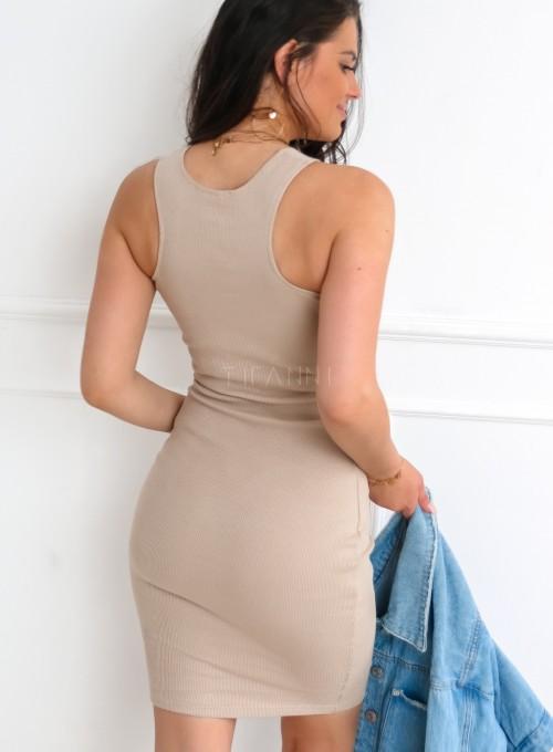 Sukienka Parma w kolorze beżowym 8