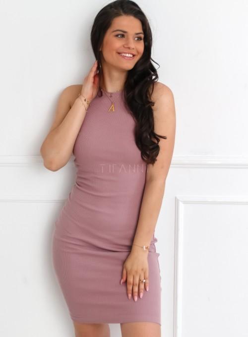 Sukienka Parma w kolorze pudrowym 3