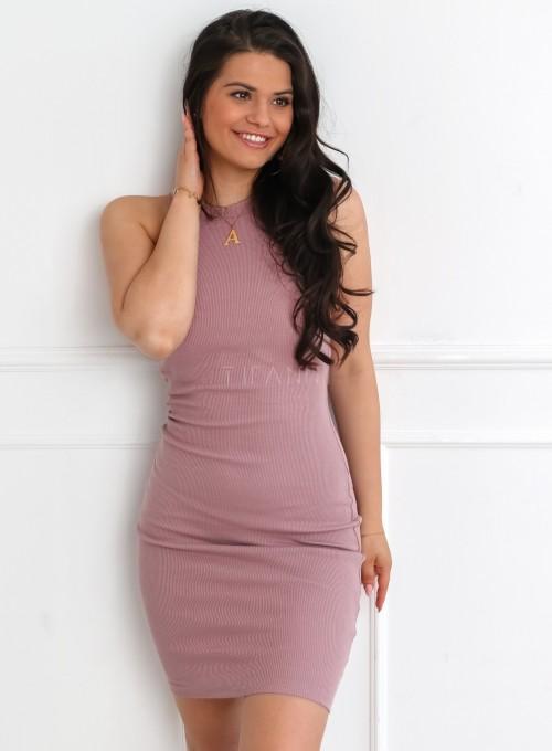 Sukienka Parma w kolorze pudrowym 5