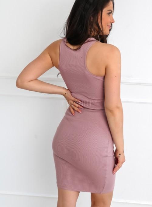 Sukienka Parma w kolorze pudrowym 1