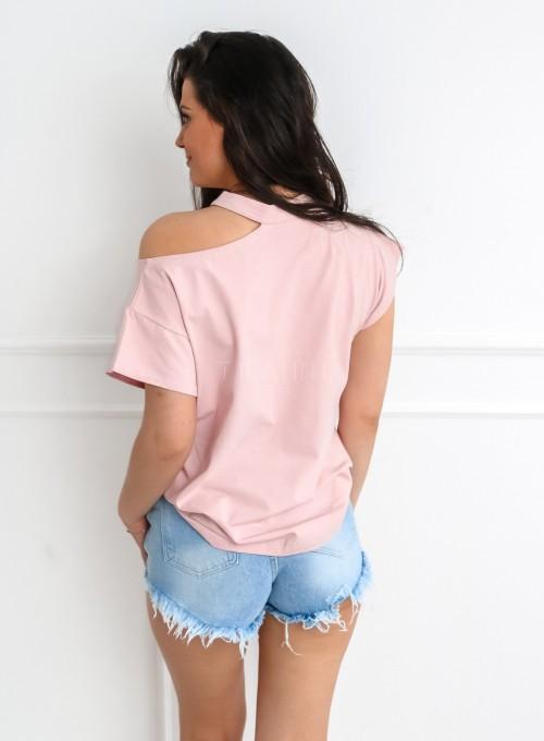 T-shirt Celesta pudrowy 4