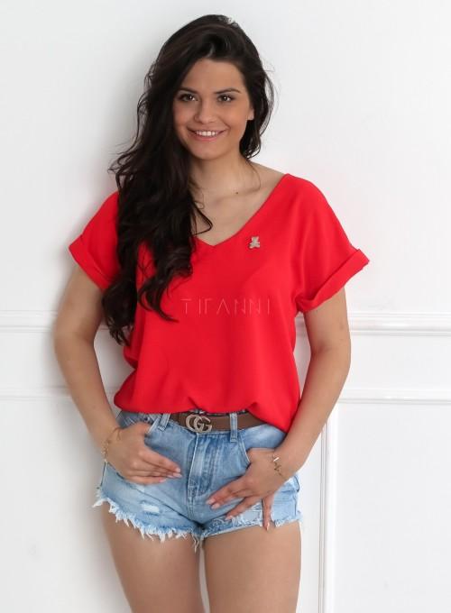Bluzka Monetti w kolorze czerwonym