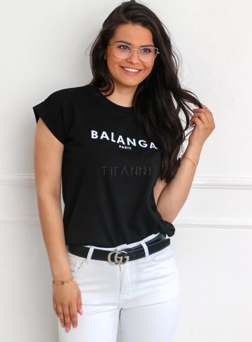 T-shirt Balanga czarny