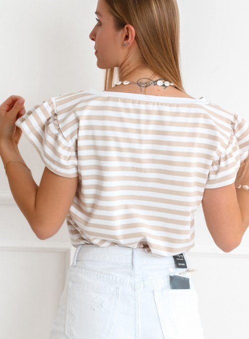 T-shirt Ritz beżowy 5